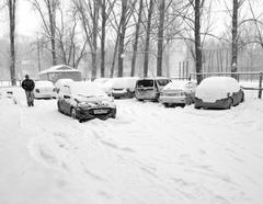 После бесснежной зимы этот мартовский день (23 марта) доставил массу сюрпризов автовладельцам
