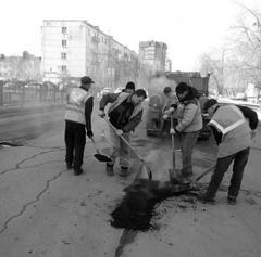 Дорожные работы в Сызрани начались уже в апреле