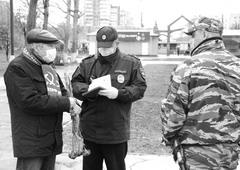 В день 150-летия со дня рождения В. И. Ленина Виталию Минчуку (на фото слева) пришлось общаться с полицией