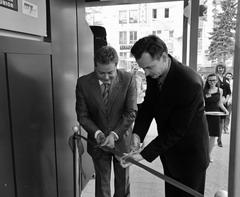 Заммэра Тольятти Алексей Бузинный и президент банка Алексей Титов открыли новый офис банка «Солидарность»