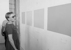 Елене Лапушкиной продемонстрировали цветовую гамму предстоящей покраски строящейся школы на 5-й Просеке